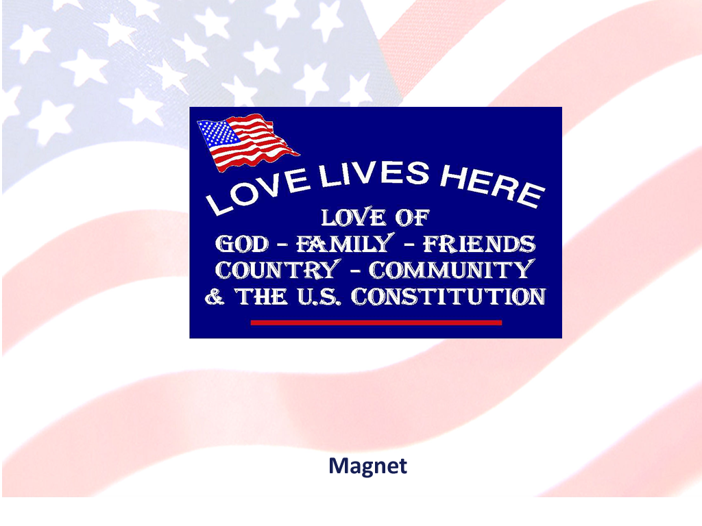 Love Lives Here In The USA - Show your love of US with this Magnet