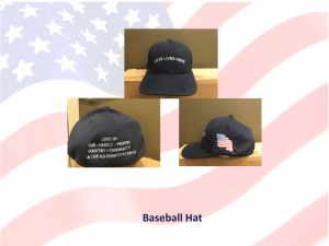 Love Lives Here In The USA - Show your love of US with this Baseball Hat